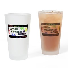 Every Month Autism Aware Drinking Glass