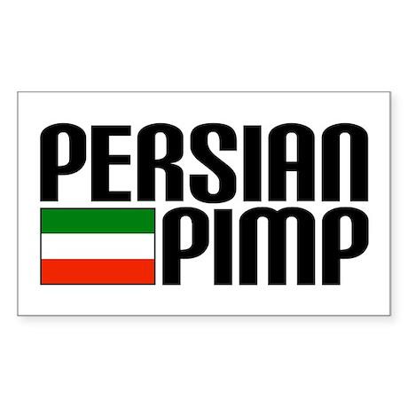 Persian Pimp Rectangle Sticker