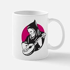 Hooded Man Playing Banjo Guit Mug