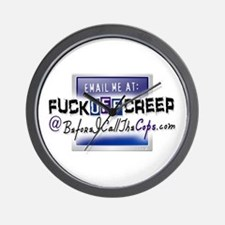 Email Me at FuckOffCreep Wall Clock