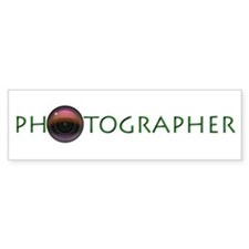 Photographer-Lens-Green- Bumper Sticker