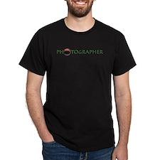 Photographer-Lens-Green- T-Shirt