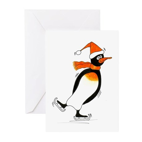 Penguin skater ~ Greeting Cards (Pk of 10)