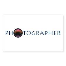 PHOTOGRAPHER-LENS-BLUE- Decal