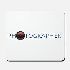 PHOTOGRAPHER-LENS-BLUE- Mousepad