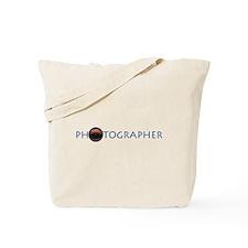 PHOTOGRAPHER-LENS-BLUE- Tote Bag
