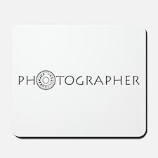 PHOTOGRAPHER-DIAL-GREY- Mousepad