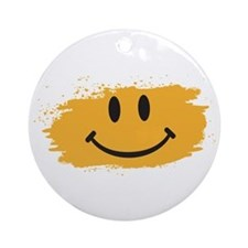 Happy Face Ornament (Round)
