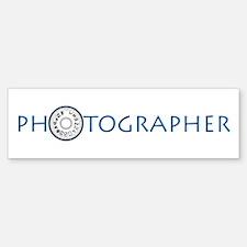 PHOTOGRAPHER-DIAL-BLUE- Bumper Bumper Sticker