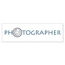 PHOTOGRAPHER-DIAL-BLUE- Bumper Sticker