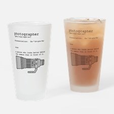 Definition and vintage camera Drinking Glass