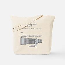 Definition and vintage camera Tote Bag