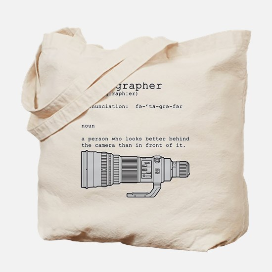 Definition and vintage camera Tote Bag