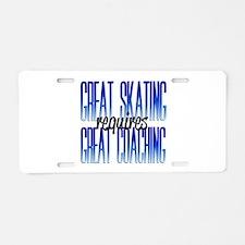 Great Coaching Aluminum License Plate