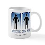 Dick Size Comparison Mug