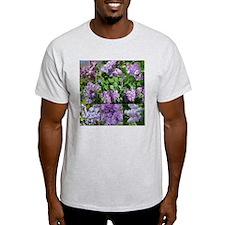 Lilac Collage #16 Ash Grey T-Shirt
