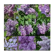 Lilac Collage #16 Tile Coaster
