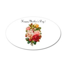 """""""Mother's Day Roses"""" 22x14 Oval Wall Peel"""