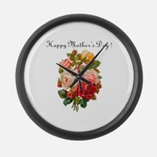 """Mother's Day Roses"" Large Wall Clock"