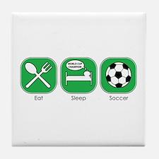 Eat Sleep SOCCER Tile Coaster