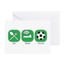 Eat Sleep SOCCER Greeting Cards (Pk of 10)