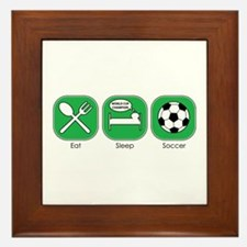 Eat Sleep SOCCER Framed Tile