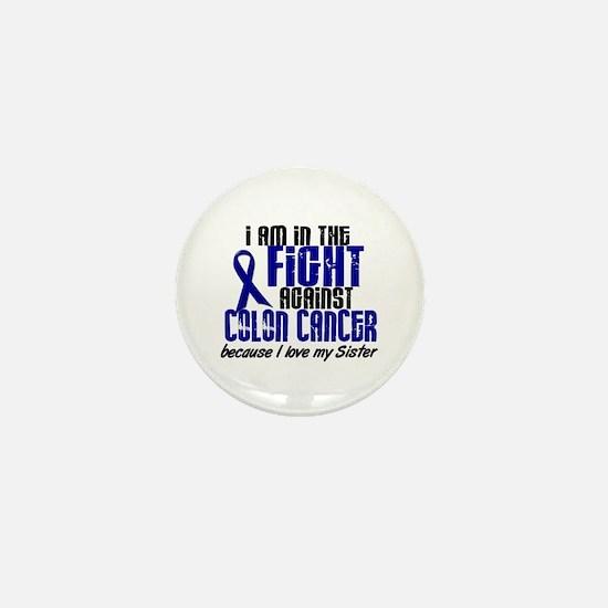In The Fight Colon Cancer Mini Button (10 pack)
