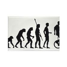 Funny Evolution of man biker Rectangle Magnet (10 pack)