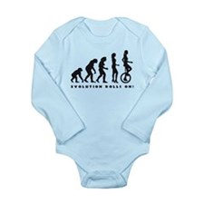 Cute Bicycle race Long Sleeve Infant Bodysuit