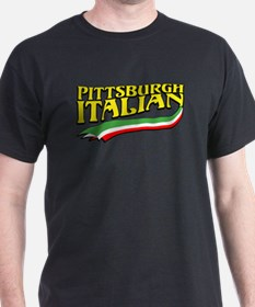 Pittsburgh Italian Pride Black T-Shirt