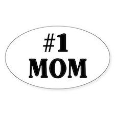#1 MOM Bumper Stickers