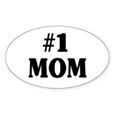 #1 MOM Stickers