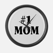 #1 MOM Large Wall Clock