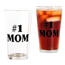 #1 MOM Drinking Glass