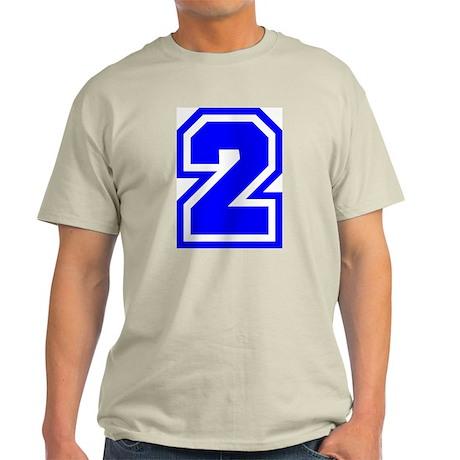 Varsity Uniform Number 2 (Blue) Ash Grey T-Shirt