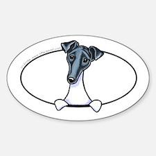 Smooth Fox Terrier Peeking Bumper Decal