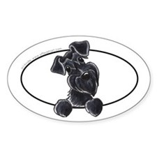 Black Schnauzer Peeking Bumper Decal