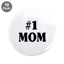 """#1 MOM 3.5"""" Button (10 pack)"""