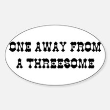 THREESOME Oval Decal