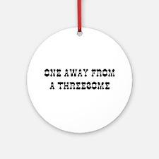THREESOME Ornament (Round)