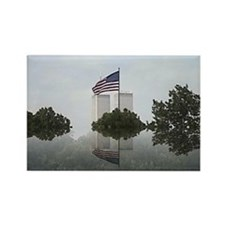 Unique Twin towers Rectangle Magnet (10 pack)