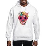 Skull Flowers by WAM Hooded Sweatshirt