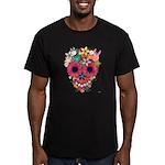 Skull Flowers by WAM Men's Fitted T-Shirt (dark)