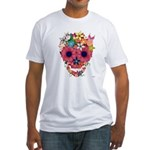 Skull Flowers by WAM Fitted T-Shirt