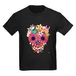 Skull Flowers by WAM Kids Dark T-Shirt