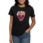 Skull Flowers by WAM Women's Dark T-Shirt