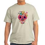 Skull Flowers by WAM Light T-Shirt
