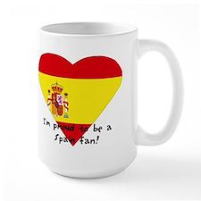 Spain fan flag Mug