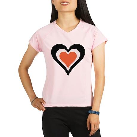 Orange and Black Love Performance Dry T-Shirt
