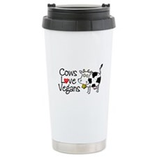 Cows Love Vegans Travel Mug